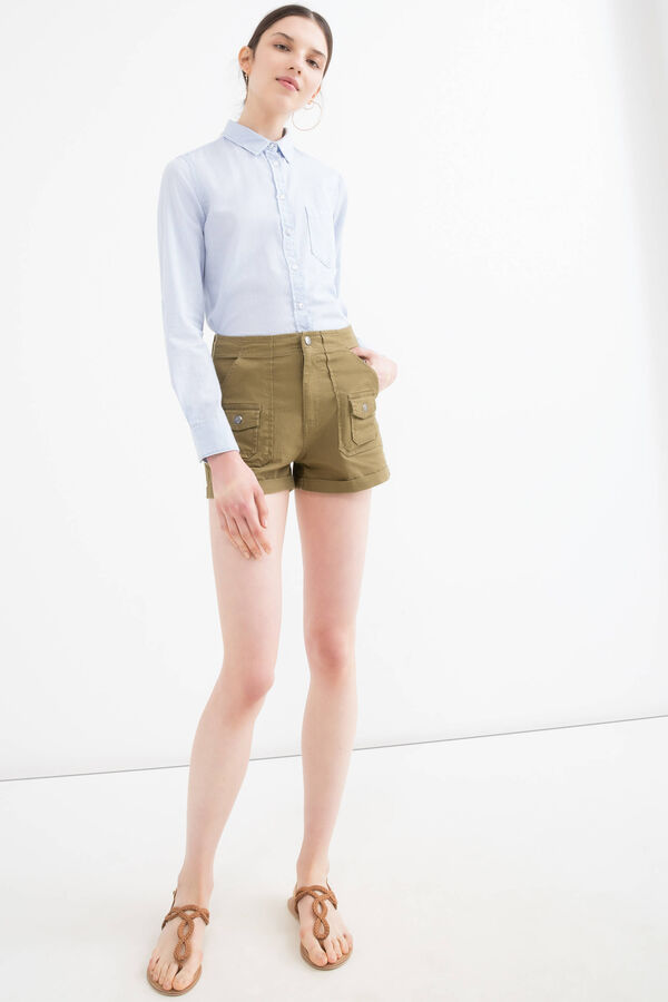 Stretch cotton shorts with pockets | OVS
