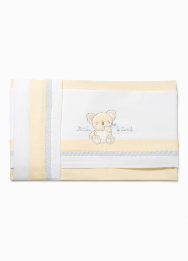 Embroidered crib sheet | OVS