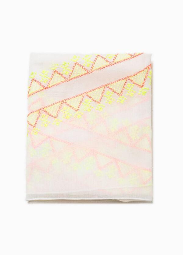 Sciarpa in cotone ricamata | OVS