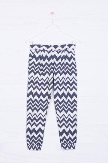 Pantaloni misto cotone fantasia