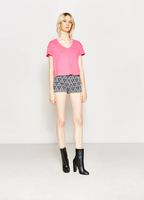 Shorts in cotone stampa all-over | OVS
