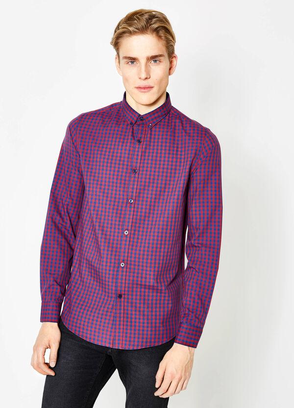 Camicia casual slim fit a quadri | OVS
