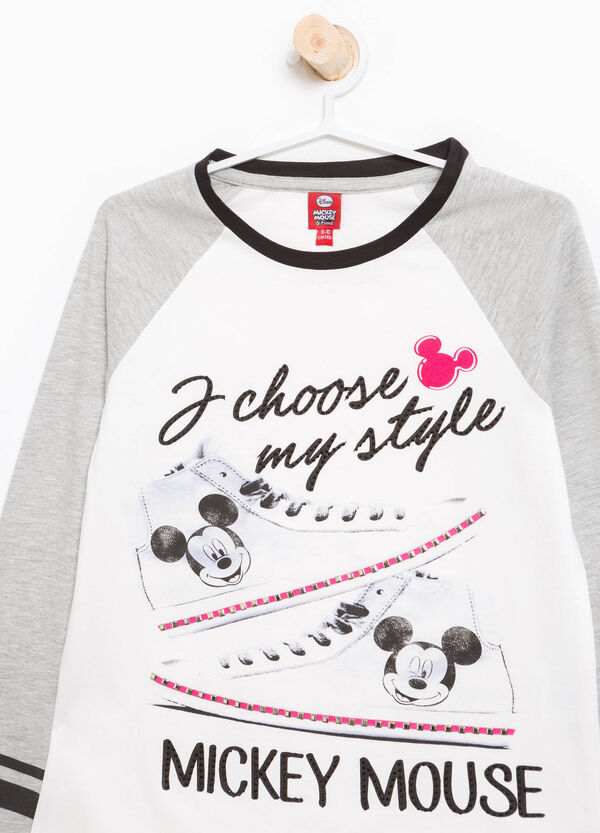 T-shirt Mickey Mouse strass e borchie   OVS