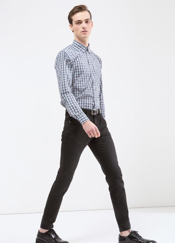 Camicia misto cotone quadri   OVS