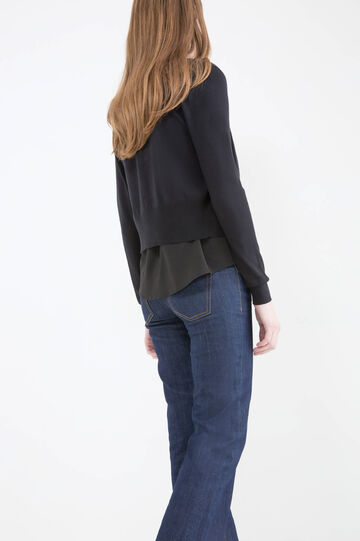 Viscose blend cropped cardigan.