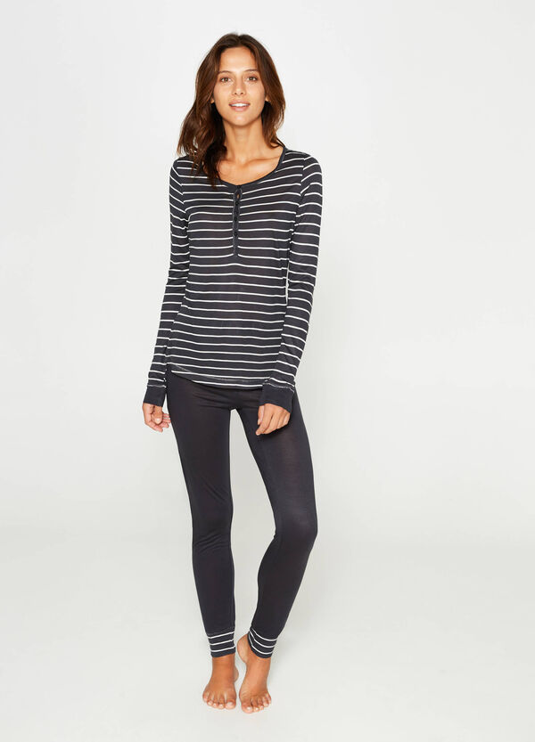 100% viscose striped pyjamas | OVS