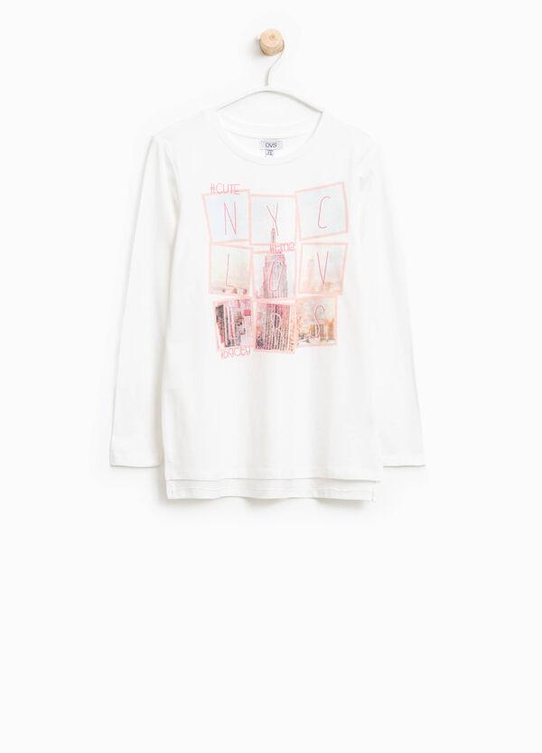 T-shirt in cotone con stampa | OVS