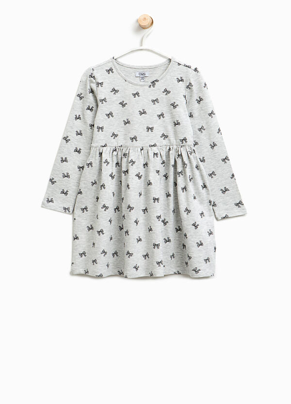 Cotton dress with bows | OVS