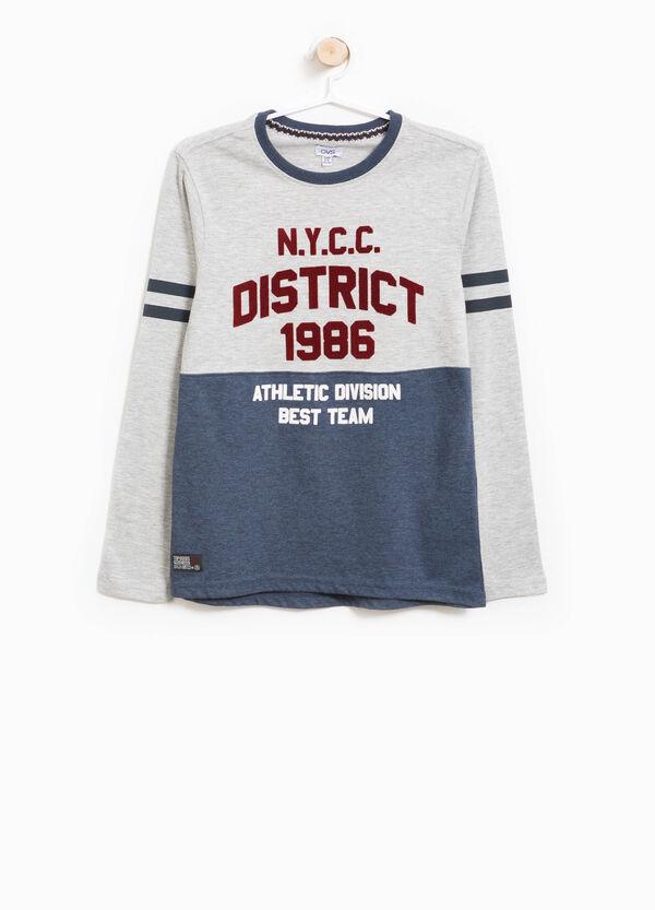 T-shirt in cotone bicolore stampata | OVS
