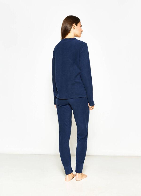 Pantaloni pigiama in pile con coulisse   OVS