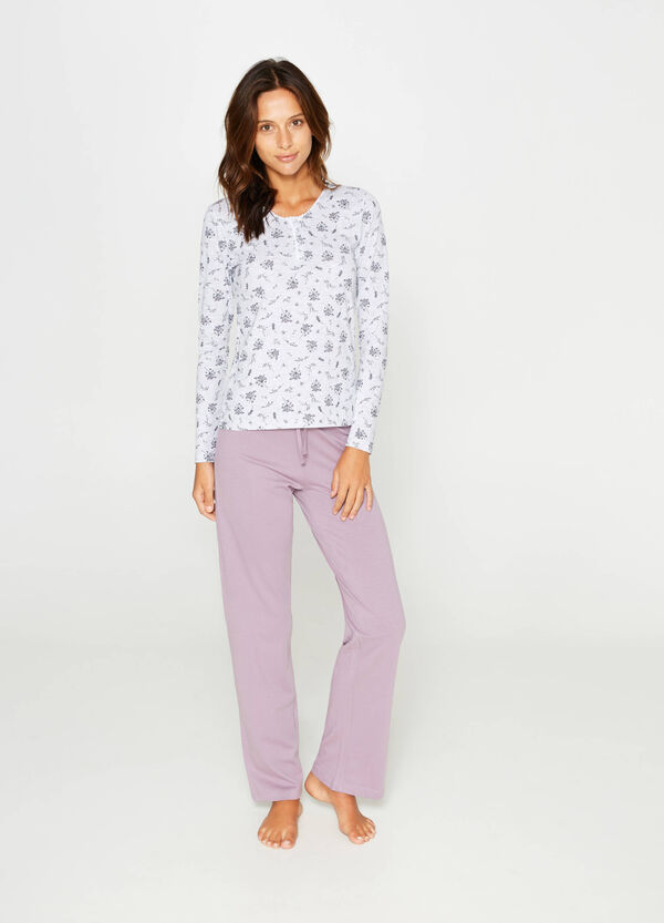 Floral pattern pyjamas in 100% cotton | OVS