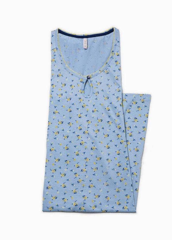 Camicia da notte floreale con pizzo   OVS