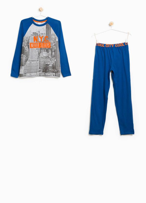 Maxi print pyjamas in 100% cotton | OVS