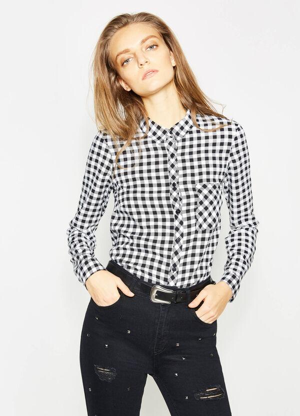 Camicia in viscosa con stampa all-over | OVS