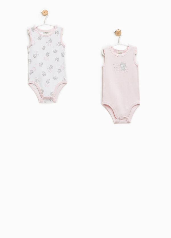 Two-pack 100% Biocotton patterned bodysuits   OVS