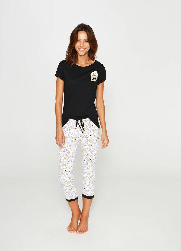 Egg pattern cotton pyjamas | OVS