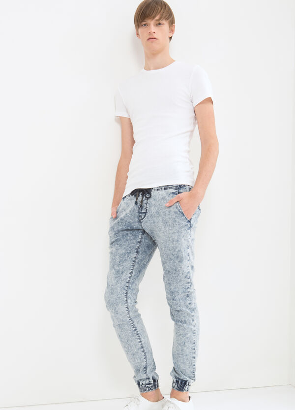 Jeans stretch slim fit con coulisse | OVS