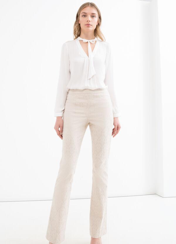 Pantaloni lavorazione jacquard | OVS