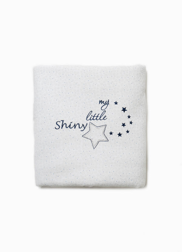 Embroidered and patterned cotton blanket | OVS