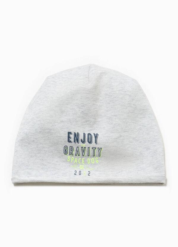 Printed beanie cap in cotton | OVS