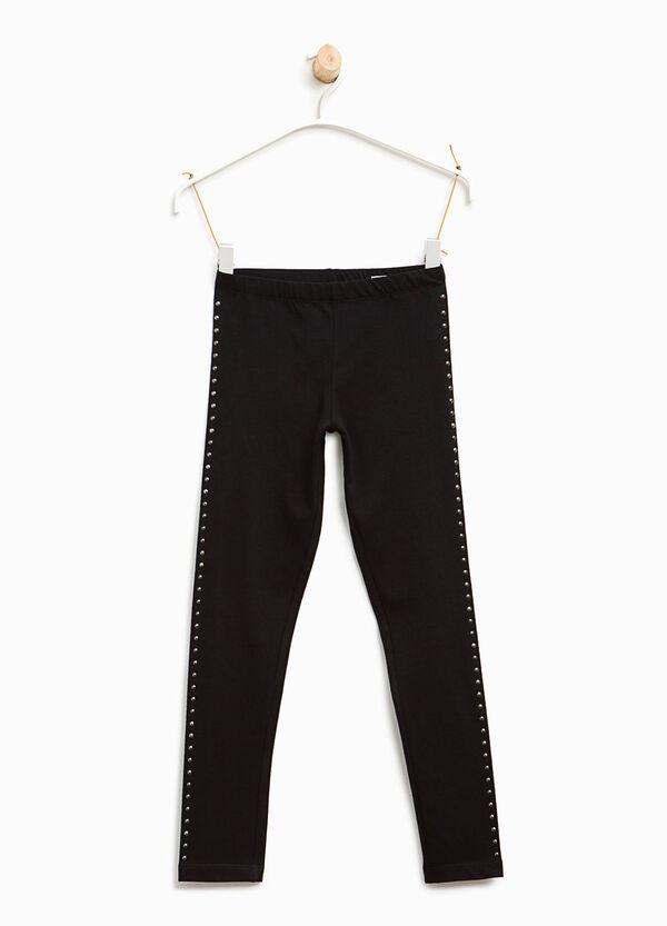Leggings in cotone con borchie | OVS