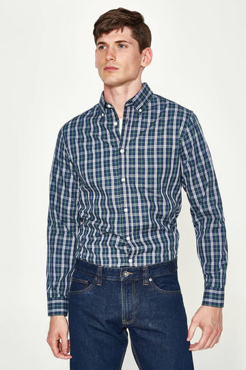 Casual tartan shirt in cotton