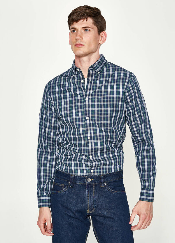 Camicia casual tartan in cotone | OVS