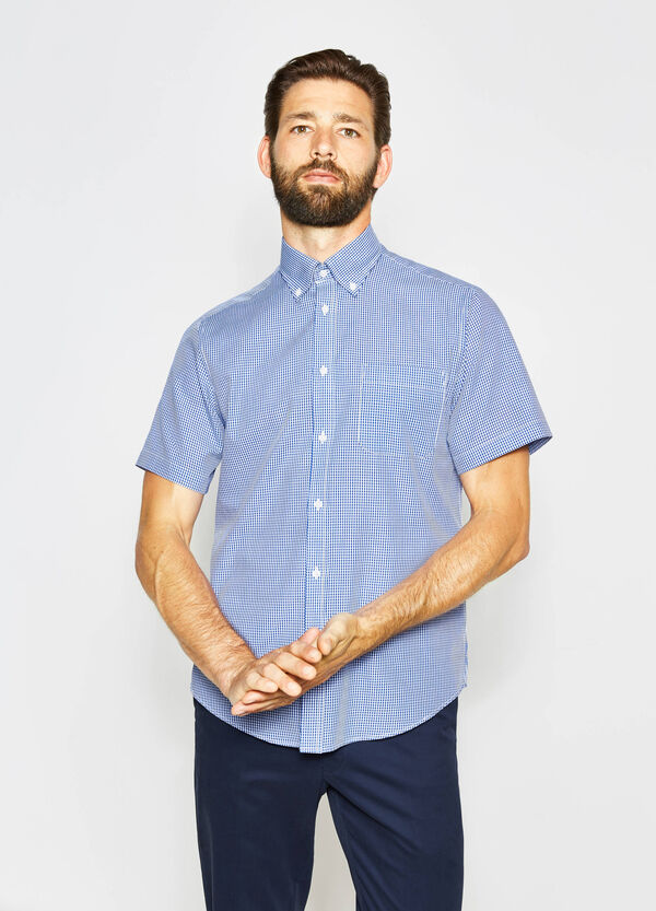 Regular-fit casual checked shirt | OVS