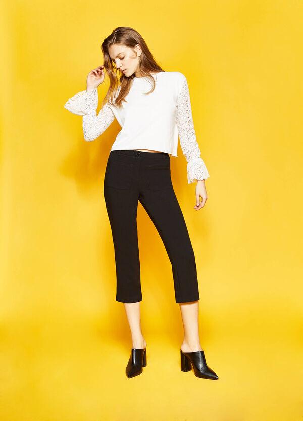 Stretch viscose crop trousers | OVS
