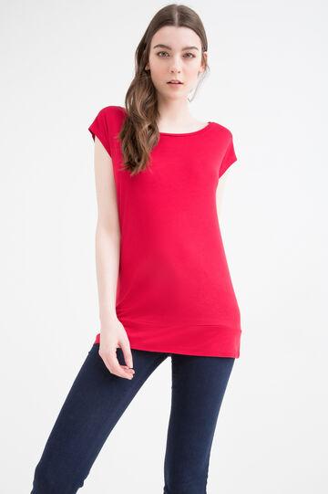 T-shirt pura viscosa tinta unita