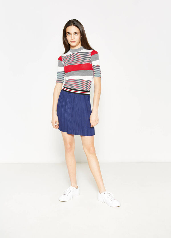 Teen solid colour pleated skirt | OVS