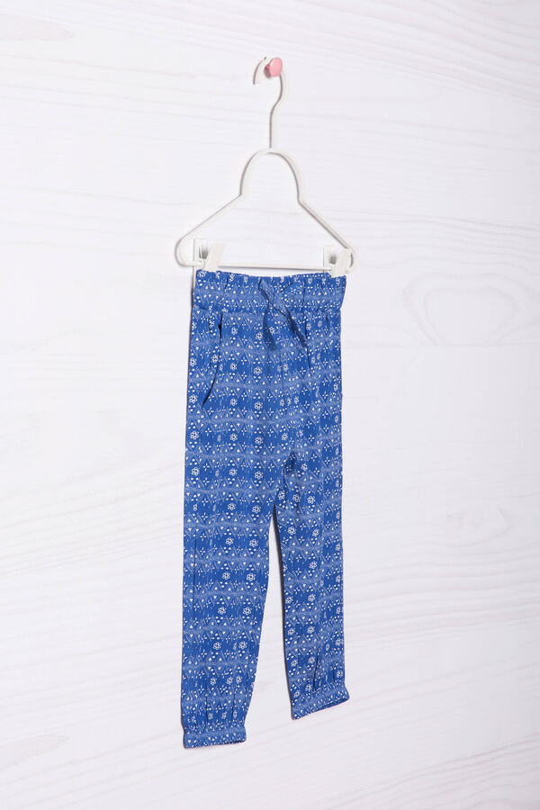 100% viscose patterned trousers | OVS