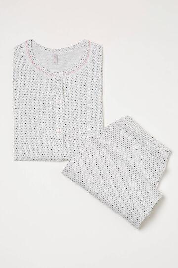 Heart and polka dot pyjamas in 100% cotton