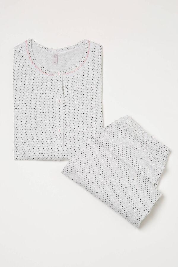 Heart and polka dot pyjamas in 100% cotton | OVS