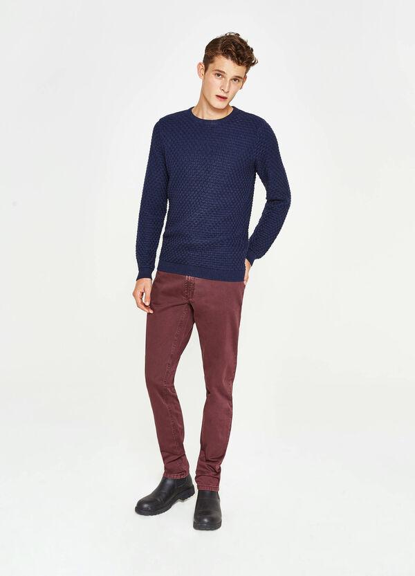 Pantaloni in puro cotone tinta unita | OVS