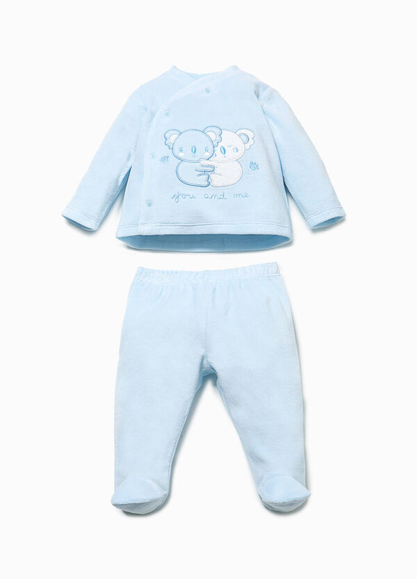 T-shirt and baby leggings set with embroidery | OVS