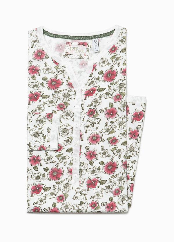 Floral cotton nightshirt | OVS
