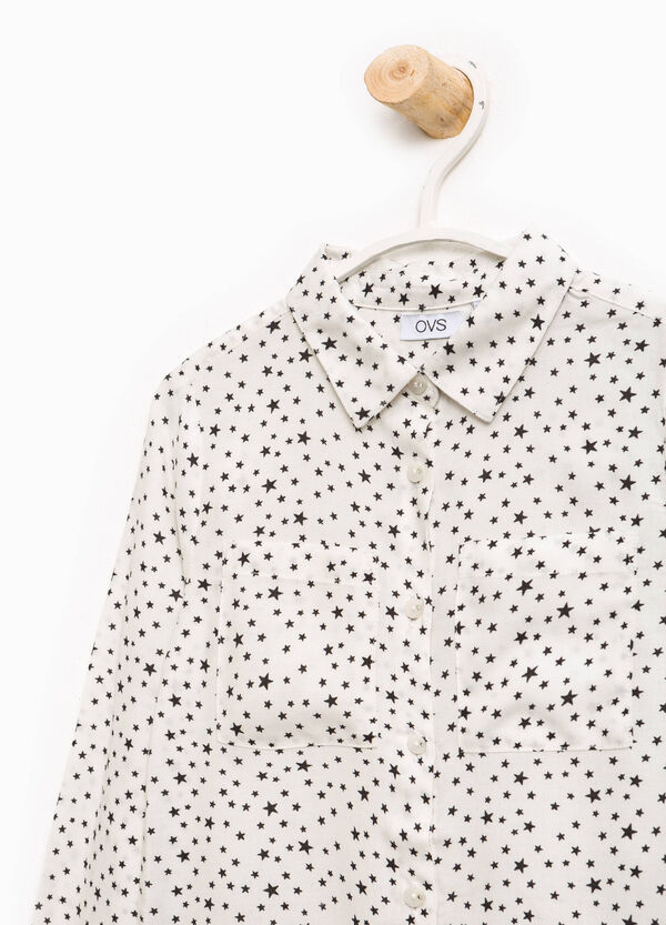 Viscose shirt with star pattern | OVS