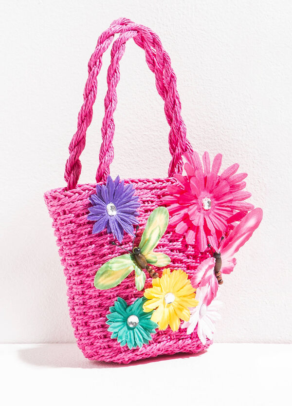 Shopping bag with flowers and butterflies | OVS