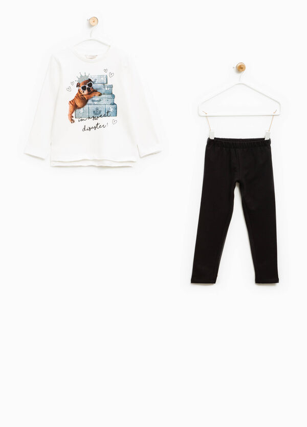 100% cotton tracksuit with raw edges | OVS
