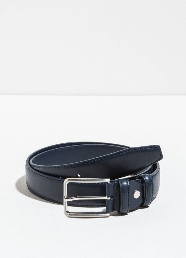 Textured-effect belt with two loops | OVS