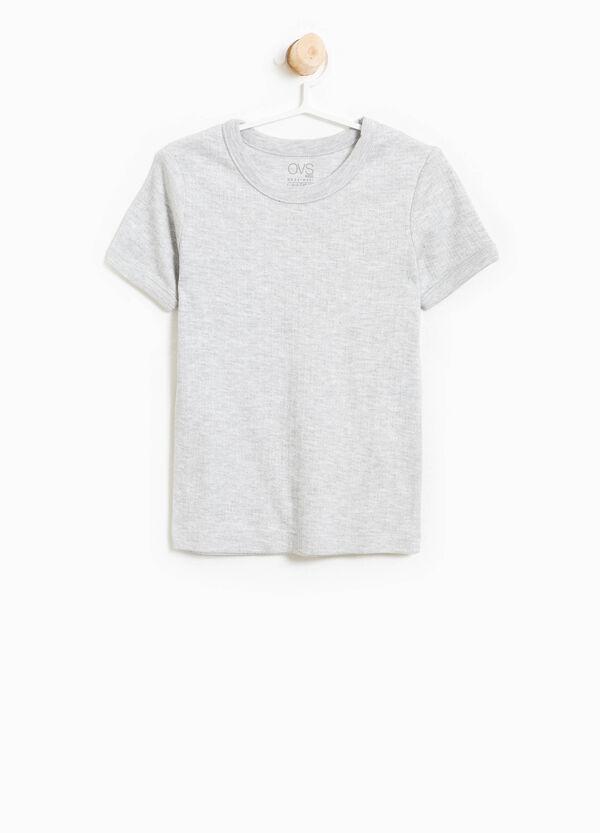 T-shirt intima a costine mélange | OVS