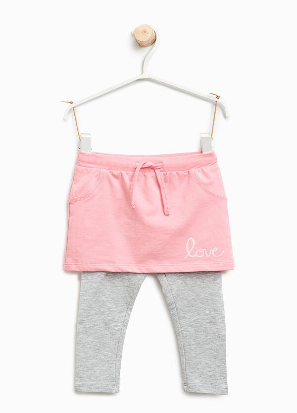 Gonna pantalone in cotone stampata | OVS