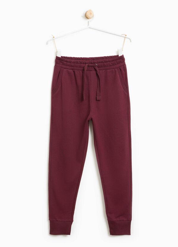 Pantaloni tuta con coulisse tinta unita | OVS