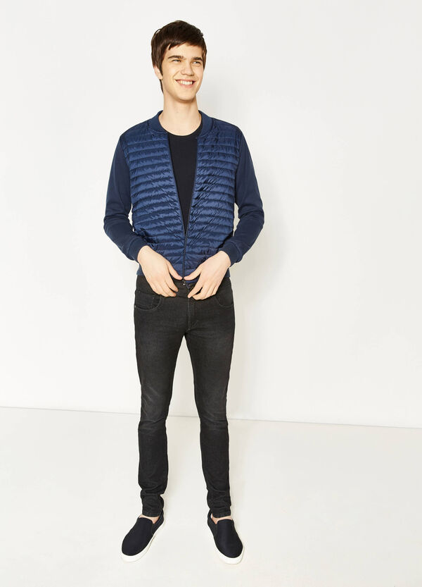 Jacket with round ribbed neck | OVS