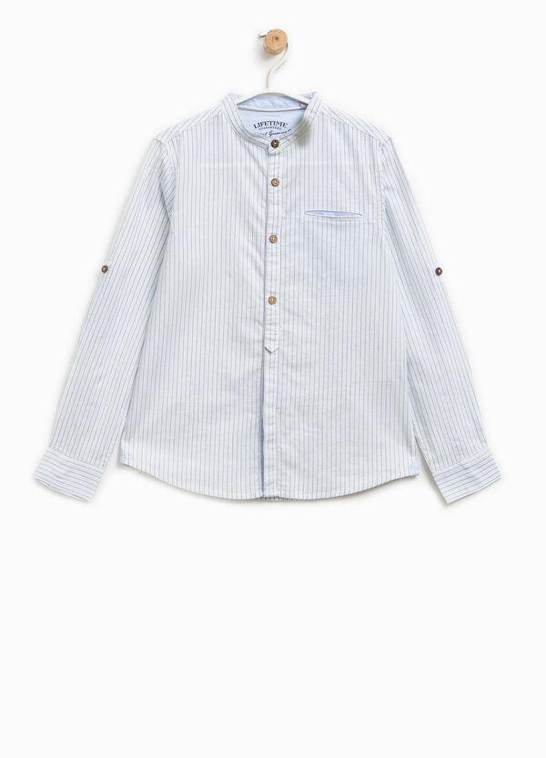 100% cotton striped pattern shirt | OVS