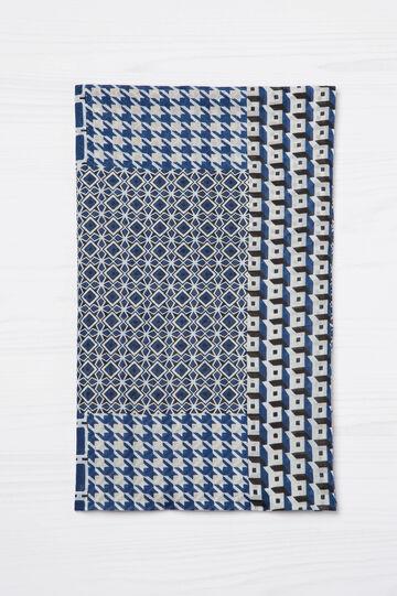 Geometric print cotton scarf