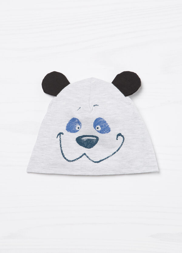 Cotton beanie cap with ears | OVS
