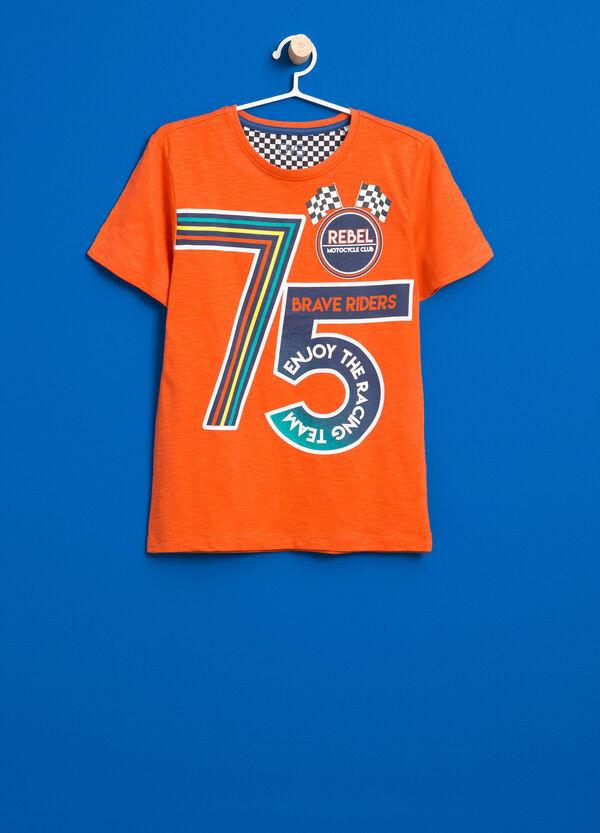 T-shirt in puro cotone stampa | OVS