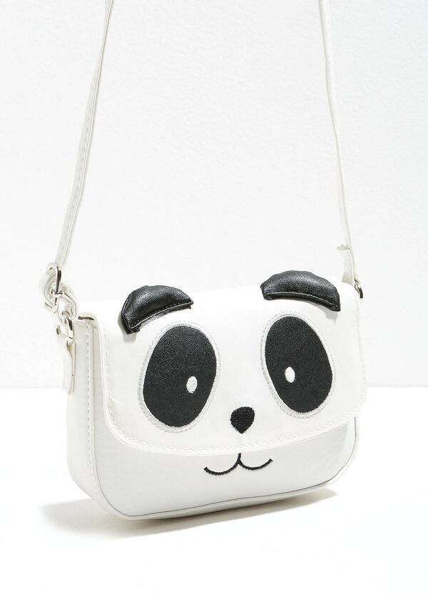 Shoulder bag with panda patches | OVS